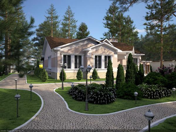 Загородный дом Киев.Ландшафтный дизайн.