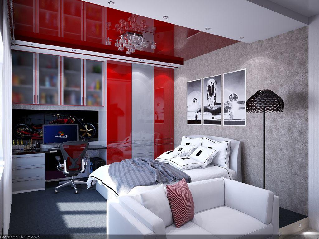 Комнаты для подростка,Современный стиль дизайна.